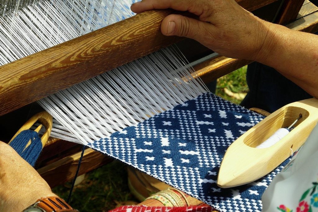 handicraft, weaving, loom